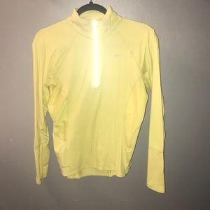 Nike Dri Fit 3/4 ZIP Yellow Small Good condition